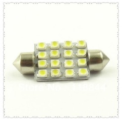 31 mm to 36 mm 39 mm and 16 mm light license plate lamp 16 led reading lamp trunk lamp free shipping(China (Mainland))
