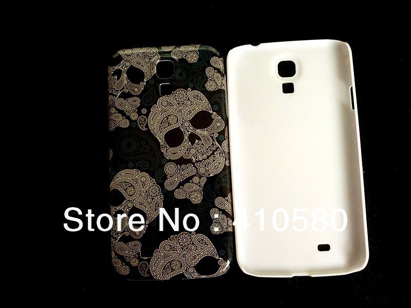 Free shipping wholesale 100pcs/lot Skull Head Hard Case Cover For Samsung Galaxy S4 I9500(China (Mainland))