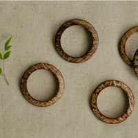 Natural coconut shell ring buckle bag buckle bag buckle,50pcs/lot