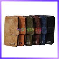 Luxury Golden Phoenix Original Genuine Leather Case For iPhone 5 5G Cover Wallet Case