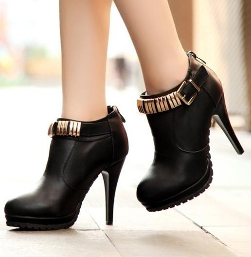 Women's shoes spring new arrival boots fashion high-heeled shoes boots black boots women's boots(China (Mainland))