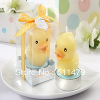 NEW ARRIVAL+Rubber Ducky Candle Baby Shower Favors+100pcs/lot+FREE SHIPPING(RWF-0054CA)