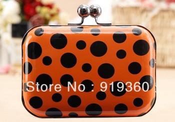 2013 popular sweet beautiful dot Bags Evening Bags Clutch Messenger Bag 1311,free shipping