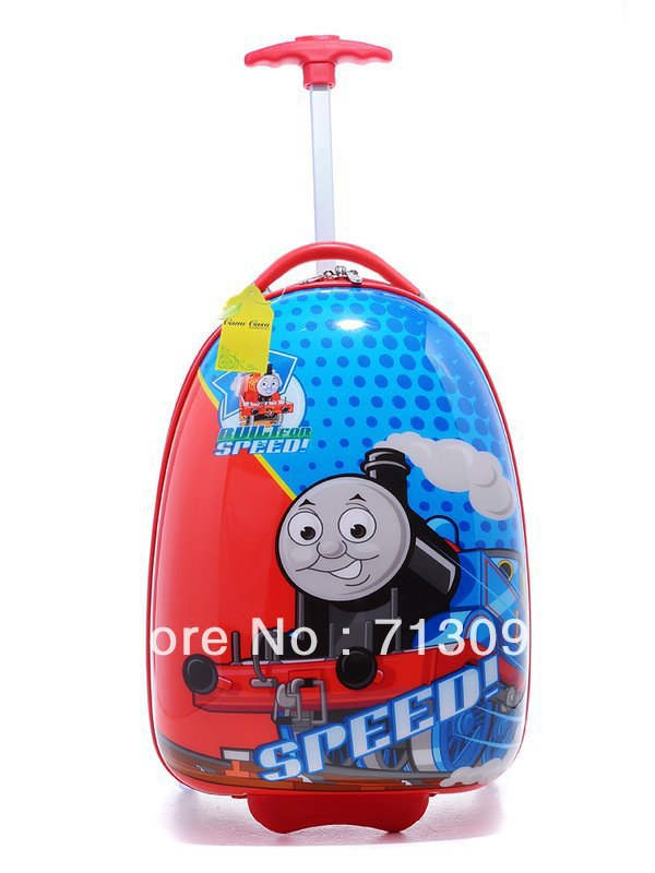 "Child kid rolling Luggage Bag Trolley Roller handbag bag 16"" Red Thomas train(China (Mainland))"
