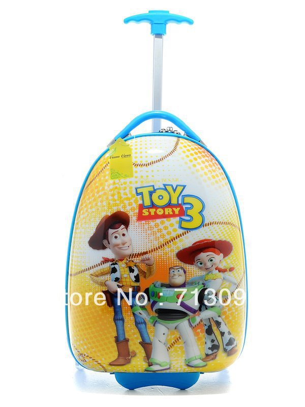 "Child kid rolling Luggage Bag Trolley Roller handbag bag 16"" Toy Story Mania(China (Mainland))"