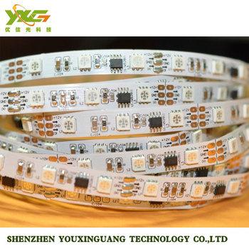 Free Shipping High Quality WS2801 RGB LED Digital Strip 16pcs IC and 48pcs 5050 SMD RGB Each Meter