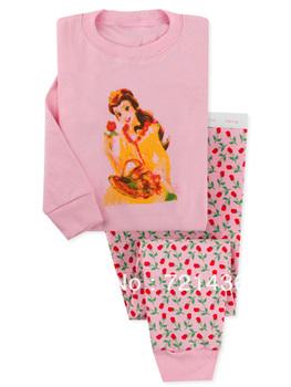 pink princess baby pajamas Long-sleeve suit underwear kids tshirts sleepwear bodysuit  sunny 6sets/lot ( 6 sizes)
