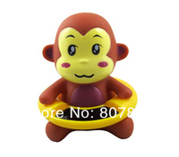 Factory Sale 60pcs/lot  Monkey Design Novelty Items Retail Baby Bath Thermometer Cartoon Swimming Circle Waterproof Thermometer