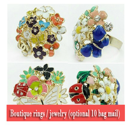 Min order is $10(mix order) Fashion jewellery alloy with gold plated Flowers Ladybug Butterfly Ring(China (Mainland))