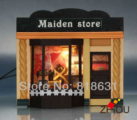 DIY Handmade Dam House 3D Dollhouse Furniture Miniature Toys / Jigsaw Puzzle Wooden House Model - Maiden shop(China (Mainland))
