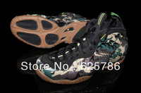Free Shipping Air Foamposite One Pro Men's Basketball Sport Footwear Sneaker Trainers Shoes - Black / Brown / Army Green