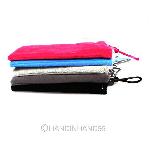 4pcs NEW Soft Cloth Sleeve Velvet Sock Case Bag Pouch For Samsung Galaxy Note2 N7100 80738-80745(China (Mainland))