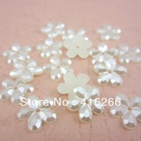 Free Shipping new 1000pcs/lot 12mm cream white color flatback  Plum flower shape ABS craft imitation pearls beads