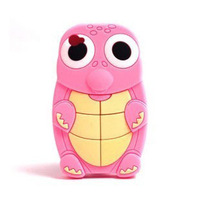Turtle 3d stereo cartoon  for apple   iphone5 5 phone case shell silica gel sets