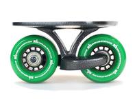 Factory Price! 1set SAB Black freeline skate drift skate green wheel,Skateboard gift Club Dedicated Free shipping Fedex IE