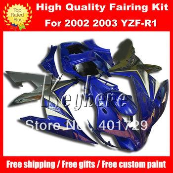 Blue racing motorcycle fairing  for  YZF-R1 2002 2003 YZFR1 02 03 YZF R1 02 03 high grade fairings body kit