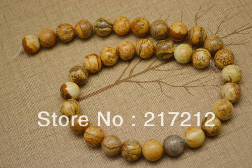 Wholesale 10mm picture stone beads High-quality natural stone beads jewelry accessories 80pcs/lot free shipping(China (Mainland))