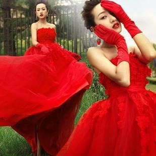Dream red bridal princess wedding dress formal dress new arrival 2013(China (Mainland))