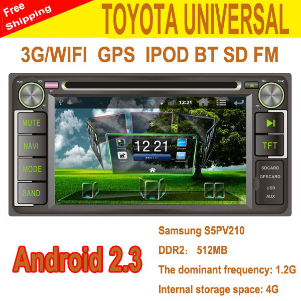Corolla EX DVD Carro ,Toyota Vios DVD Carro Android 2.3 with 3g/wifi for Previa/Vizi/Camry 2.4/Florid/Vela/Vios(old)(China (Mainland))