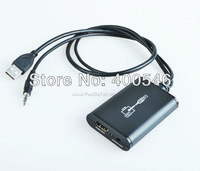 Free shipping 10PCS/LOT Wholesale LKV325 USB 2.0 to HDMI,USB to HDMI Converter 1080P PC TO TV