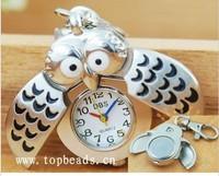 Silver Steel keyring watch