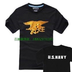 Seal badge t-shirt short-sleeve cotton outdoor 2013 training service s(China (Mainland))