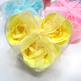 Flower 3 fashion gift rose soap 3 commodity(China (Mainland))