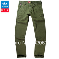 Free Shipping Hot Sales Green Color Jeans Leisure Casual pants,  Famous Brand Cotton Men's Jeans Pants
