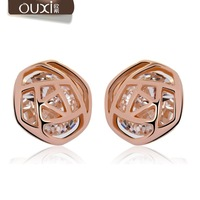 Rose flower jewelry stud for Women 20372 free shipping