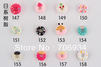 Nail Accessories 3d Resin Cake 500pcs/lot Mix Fashion Nail Art Decorations Shop Flat back Diy Resin The Adornment For Nail