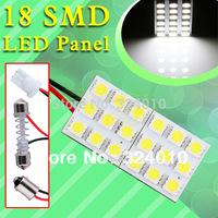 2pcs  18 SMD 5050 Pure White Light Panel T10 BA9S Festoon Dome 18 LED Interior Bulb 12V w5w parking car light source