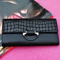 WBG0266  2014 Fashion New designer women lady girl luxury genuine leather wallet purse f bag case Drop shipping free shipping