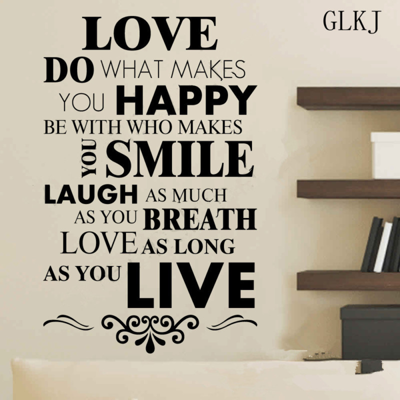 Love Quotes Vinyl Wall Art : Inspirational love quotes smile