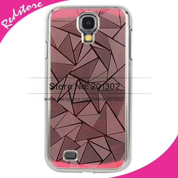 3D Diamond Type Lattice Design Chrome Aluminum Mirror Hard Case For Samsung Galaxy S4 I9500 SIV , Mix Color 5pcs(Hong Kong)