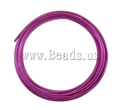 2013 New Arrival Aluminum Wire Electrophoresispurplish red 2mm Length:Approx 30m 10PCs/Bag Sold By Bag Free Shipping(China (Mainland))