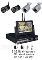 free shipping HOT 4ch/8ch wireless dvr kits with 2pcs wireless camera and 2pcs 1/3 cmos 600tvn camera