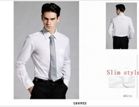2013 latest fashion summer men silk   full slevee shirts size S-XXL  free shippiing