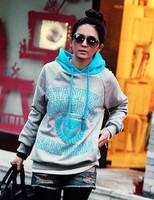 2014 fashion good  hooded fleece casual coat  sweater