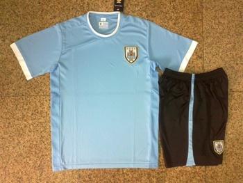 12-13 the Uruguay newest light blue soccer uniforms football kit soccer jersey 25 yuan each