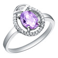 Wholesale 10Pcs/lot Fashion 18K white Gold plated lady's Wedding Amethyst Crystal CZ Stone Rings for women men  SIZE 7/8/9/ J102