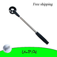 Free Shipping! 2M Stainless Steel Shaft Retractable Golf Ball Pick Up Retriever Ball Scoop