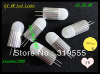 10X CE&RoHS New G4 4W Led Bulbs Crystallights Chandelier AC&DC 12V High Power Non-Polar Warm/Cool White Free Shipping