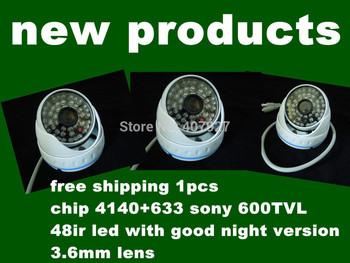 New!600TVL Sony CCTV 3.6mm  lens in door Dome camera with48IR leds  IR Camera,+ Free shipment