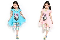 Free shipping  The new summer 2013 cuhk children han edition two-piece girls fashion