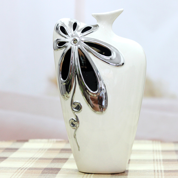 Quality vase fashion home decoration ceramic furnishings family pack accessories decoration(China (Mainland))