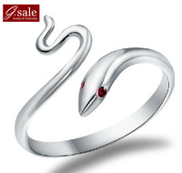 GS JZ-41 Free shipping 2014 new arrival Chinese Snake New Year Adjustable Unisex 925 Sterling Silver & Platinum Plated rings