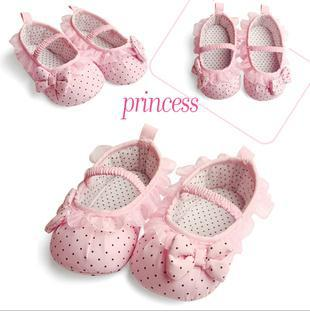 Hot Sales Baby girls Princess shoes Lace Dots Bow Anti-slip Toddler Shoes Soft Bottom 3 sizes / 6 pair lot KB4043(China (Mainland))