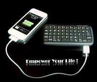 KP-PA1304B New 2 in 1 5000mAh Power Bank Charger with Mini Bluetooth Keyboard for Mobile Phone Black