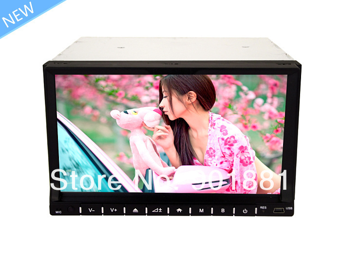 "15% Discount 2013 NEW 7"" Universal 2 din car pc WINCE6.0 Map GPS HD WIFI 3G DTV 1080P RDS Canbus I-Pod FM BT Steering Control(Hong Kong)"