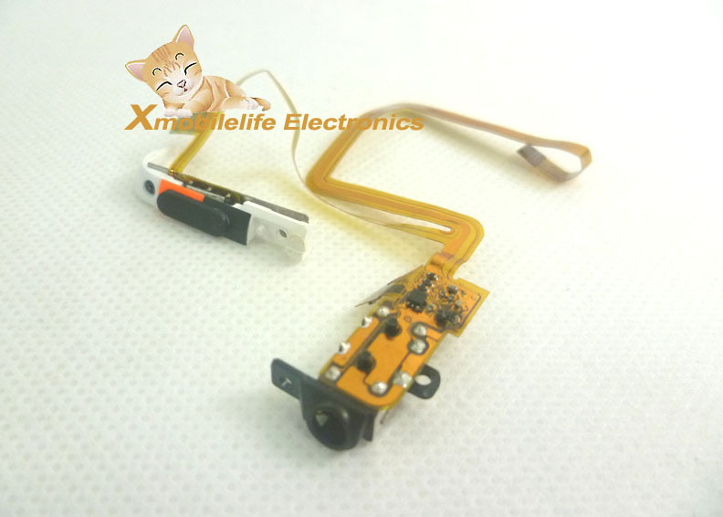 Black Color Headphone Audio Jack Headset Socket Flex Ribbon Cable Hold Switch for iPod 5th Gen Video 30GB(China (Mainland))